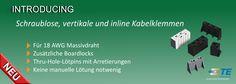 SHC GmbH - Vertikale und In-Line schraubenlose Kabelklemmen