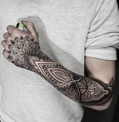 Mandala forearm tattoo - 110+ Awesome Forearm Tattoos