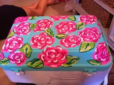 My preppy painted cooler - Lilly Pulitzer