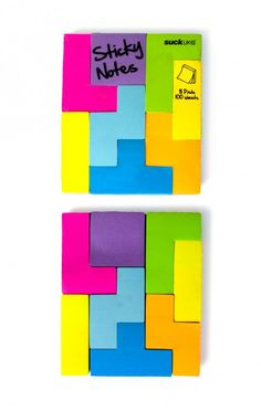 tetris post-it notes!!!