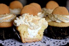 Luscious Banana Cream Pie Cupcakes