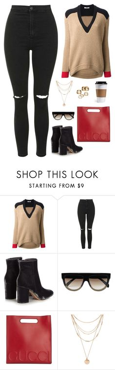 """""""600"""" by owl00 ❤ liked on Polyvore featuring Givenchy, Topshop, Gianvito Rossi, CÉLINE, Gucci, Forever 21 and Apt. 9"""