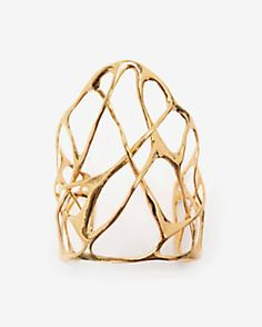 Alexis Bittar Liquid Gold Interlaced Cuff Bracelet