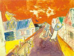 Marc Chagall - The Dead Man (1911)