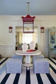 15 farbigen Interior Designs in Rot, Weiß und Blau. Los geht es! - #Farben