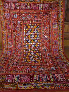 katchi textiles/vintage mirror work and   by jaisalmerhandloom   $390.00