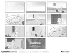 FamousFrames Storyboards, Animatic Artists, Storyboard Artists, Ed Traquino