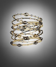 Bold bangles by Alexis Bittar.