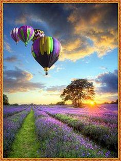 Diamond painting hot air balloon 30x40cm