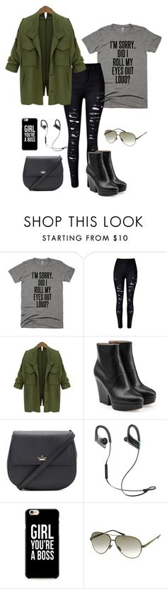 """""""Military F"""" by anna-frolova1996 ❤ liked on Polyvore featuring Maison Margiela, Kate Spade, Panasonic and Italia Independent"""
