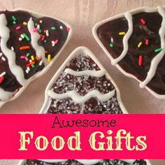 Crafts a la mode : Awesome Food Gifts to Give for Christmas #food gifts #brownies
