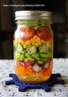 メイソンジャーで♪夏野菜のジャーサラダ by meg526 [クックパッド ...