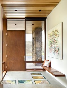 Entryway of a Jackson Hole vacation home: Conine Residence / CTA Architects Engineers