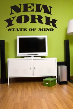 Wall Decal Words Music Lyrics New York State by WallStarGraphics, $50.00