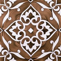 Decorative tile; Fiori Grandi by Ceramica De Maio Francesco