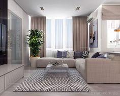 Интерьер Фото 03.08.2016/540533 Дизайн проект для квартиры 65 м2 с небольшим бюджетом от Студии интерьеров FoxLab_interior. Гостиная Современная Foxlab Interior