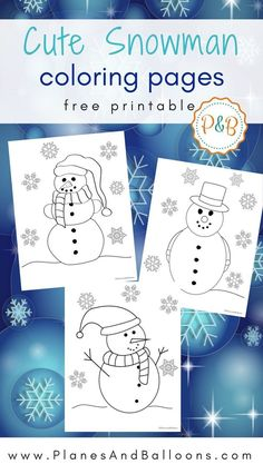 These snowman coloring pages are so cute! And such fast and easy download too! My toddlers will totally love these.