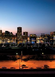 The Baltimore skyline as seen from Federal Hill. Baltimore's hottest 'hoods and booming burgs | Baltimore magazine Photo by Cory Donovan