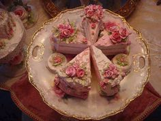 Princess Tea Party cakes - I wanna make some of these out of Styrofoam and colored caulking for a pretend pretty tea with my niece.