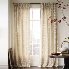 home decor: curtain, drape panels for french doors