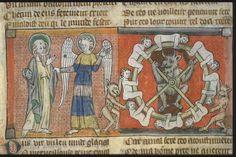 devil's wheel 2     Apocalypse, France 1220-1270.       Bibliothèque municipale de Toulouse, Ms 815, fol. 59v