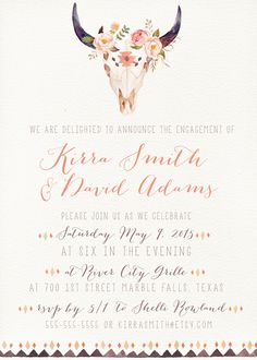 Engagement Party Invitation desert wedding kreynadesigns.etsy.com