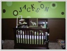 Like The Green And Brown Elephant Themed Nursery Monkey Baby