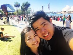 This is how we spent our 1st month together.. At the smooth chocolate festival.. One of the best back drop in the world.. The Harbour bridge and the opera house.. Thank you for everything little minion #sydneyharbourbridge #sydneyoperahouse #operahouse #harbourbridge #perfectblueskies #smiles #laughter #perfectlunch #perfectday #sunnysunday #thelineistoolong #freetimtams #chocolateevrywhere #circularquay #therocksmarkets #foodeverywhere #peopleeverywhere #smoothchocolate #smoothfm…