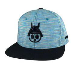 9b499538 Caprobot Baby Samurai Dye Knit 3D Baseball Cap Snapback Hat - Teal Black  Visor