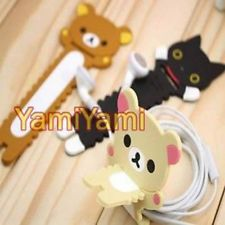Goods Gift Lovely Rilakkuma Bunny Cony Frog Cartoon Cable Winder Headphone Earphone Cable Wire Organizer Cord Holder Clear And Distinctive Consumer Electronics Accessories & Parts