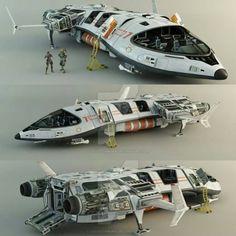 Spaceship - Concept by leccotamura / http://leccotamura.deviantart.com/art/Spaceship-Concept-210357957