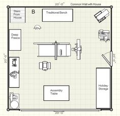 two-car garage woodshop | You can see two areas that aren't mine. The area marked holiday ...