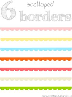 free scalloped scrapbooking borders – border /blog divider clipart with transparent background – Muschelränder – freebies | MeinLilaPark