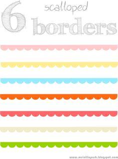 free scalloped scrapbooking borders – border /blog divider clipart with transparent background – Muschelränder – freebies | MeinLilaPark – digital freebies