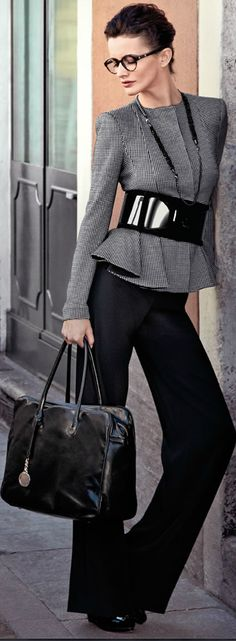 Picture Of stylish and edgy work outfits for winter 2013 2014 11 Business Outfit, Business Casual Outfits, Business Fashion, Looks Style, Looks Cool, Office Fashion, Work Fashion, Edgy Work Outfits, Office Outfits