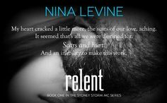 """*´¨) TEASER ¸.•´¸.•*´¨) ¸.•*¨) (¸.•´ (¸.•` RELENT ¤ *.✫*¨*.¸¸.✶*¨`*   SYDNEY STORM MC #1  Nina Levine  COMING 23RD FEBRUARY  THERE WILL BE 5 BOOKS IN THIS SERIES:  RELENT:http://bit.ly/1zCwUuw KING'S WRATH:http://bit.ly/1L4ThMO DEVIL'S VENGEANCE:http://bit.ly/1uBS4aW HYDE'S ABSOLUTION:http://bit.ly/1CJcKN3 NITRO'S TORMENT:http://bit.ly/1yBCJXu   """"I'd sold my soul a long f**king time ago."""" ~ Kick (Relent)  #FavoriteAuthor #TBR #Books #NewReleases #Biker #Teaser #ilovebooks #fangirl…"""