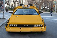 DeLorean Taxi Hits NYC