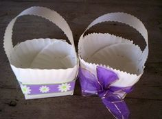 Make a Paper Plate Easter Basket