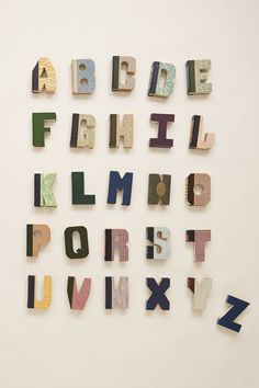 Library Letters made from Hardback Books