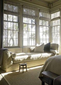 Linen slipcovered chaise