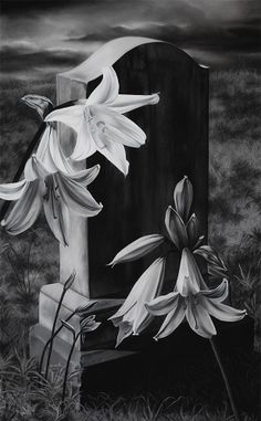 """Tombstone"" by Zaria Forman (2012) - Soft pastel and charcoal"