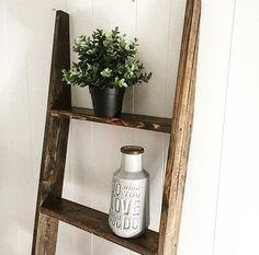 Rustic Wood Shelf Ladder Blanket Ladder Shelf Bathroom