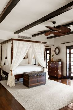 The dark wood complements the beautiful white accents in the gorgeous Ritz Carlton hotel room in Puerto Rico.