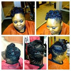 Female Iverson French Braid Pin Up