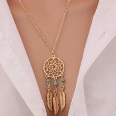 Introducing our Dream Catcher Tassels Feather Pendant Necklace! Order now at www.elisay.com & get Free Shipping  Starting at just $14