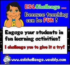 ESLCHALLENGE - ENGLISH TEACHING RESOURCES http://eslchallenge.weebly.com/packs.html