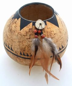 """*Gourd Art - """"Chaco Sunrise"""" by Mary Hogue"""