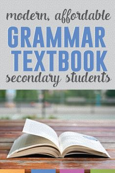 Give students a reference for their grammar studies with this modern textbook. Easy to understand language - common sense examples. Grammar Lesson Plans, Grammar Book, Teaching Grammar, Teaching Aids, High School Grammar Lessons, Middle School Grammar, English Lessons, Gcse English, Grammar Activities