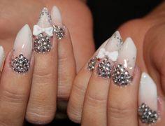 147 best bling nails images  nails bling nails cute nails