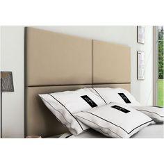 2d940489f1 Cabeceira Painel 4 Placas Para Cama Box Casal Queen 160 cm - Suede Marfim